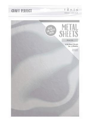 Craft Perfect Metal ark Silver Foil 5 ark A4 0,07mm