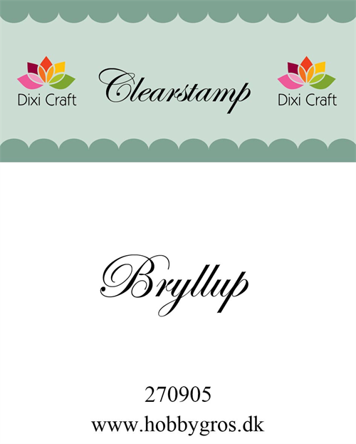 Dixi Craft stempel Bryllup 34x10mm