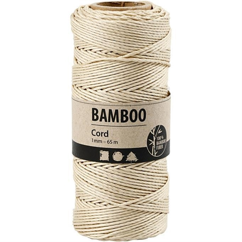 Bamboo Cord Off White 65mx1mm