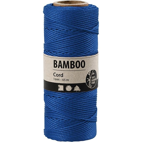 Bamboo Cord Blue 65mx1mm