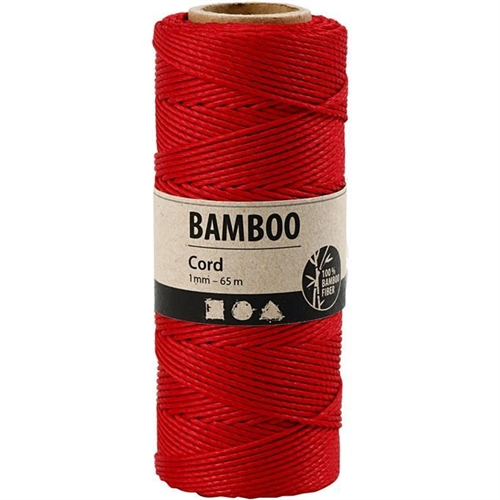 Bamboo Cord Red 65mx1mm