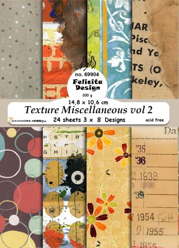 69904 Felicita Design Cards A6 Texture Miscellaneous vol 2 3x8 design 14,8x10,6cm 200g