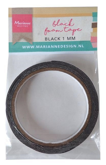 Marianne Design Black Foam Tape 1x12mm 200cm