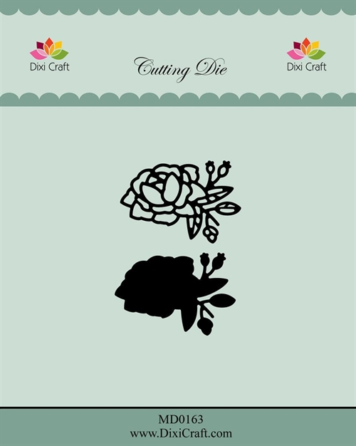 Dixi Craft die Roses with outline-2 4,1x2,8cm