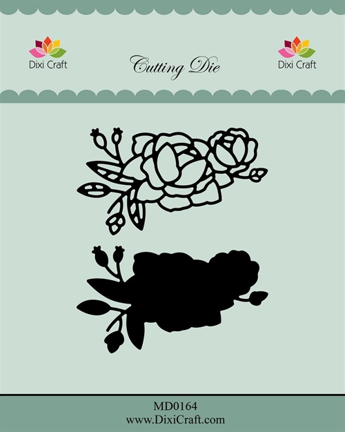 Dixi Craft die Roses with Outline-3 6,6x3,8cm