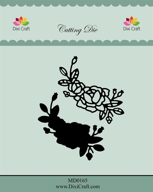 Dixi Craft die Roses with Outline-4 5,2x5,3cm