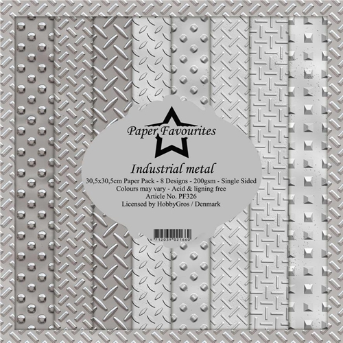 Paper Favourites Paper Pack Industial metal 30,5x30,5cm 8 design 200g