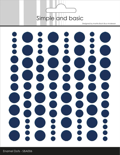 Simple and Basic Enamel Dots Dark Blue 4-6-8mm 96 stk