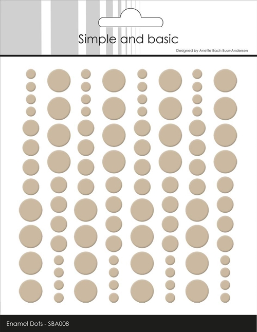 Simple and Basic Enamel Dots Baileys Brown 4-6-8mm 96 stk